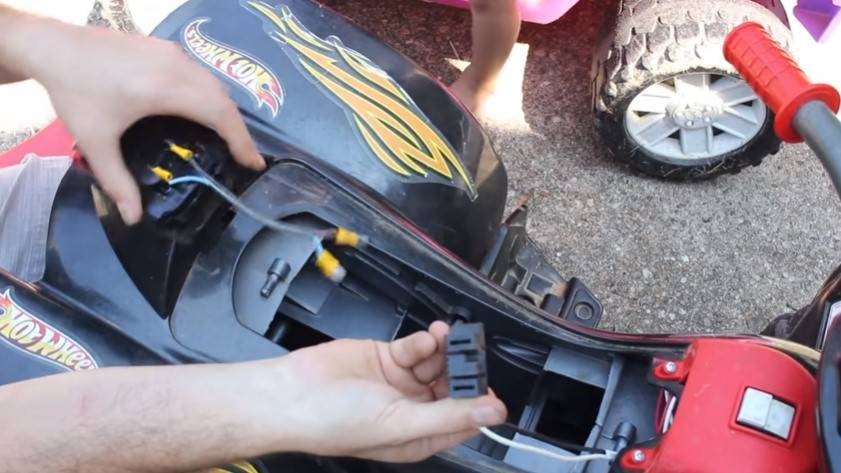 Installing a battery to Modify Power Wheels to Go Faster